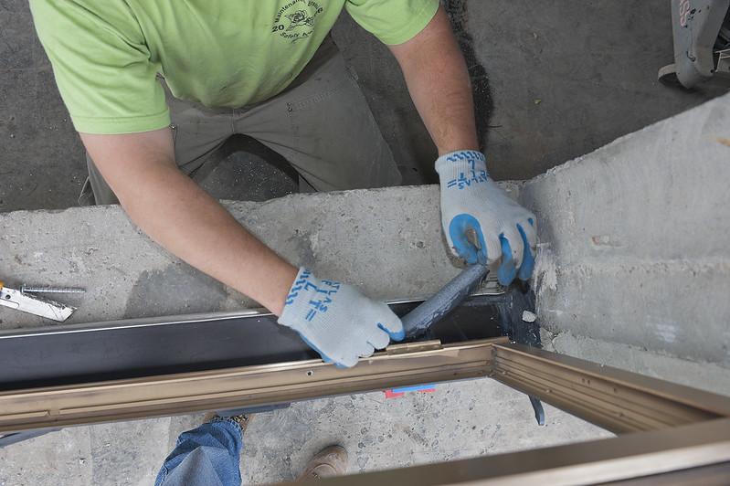 how to resurface water damaged window seal drywall