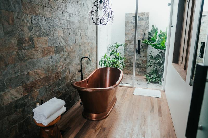 how to clean mold off natural stone shower