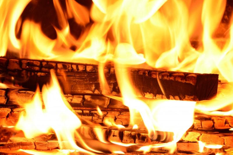 how to start a fire in a wood burning stove